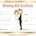 Free Editable Wedding Gift Certificate Template