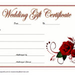 Wedding Gift Certificate Template 4
