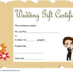 Wedding Gift Certificate Template 6