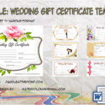 Wedding Gift Certificate Templates By Paddle