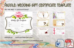 Free Editable Wedding Gift Certificate Template