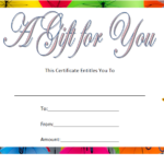 Baby Shower Gift Certificate Template Free