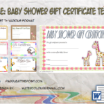 Baby Shower Gift Certificate Template By Paddle