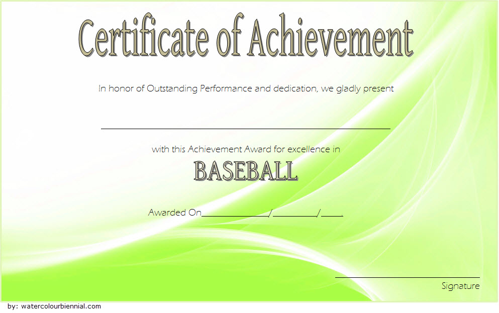 Baseball Achievement Certificates by Paddle