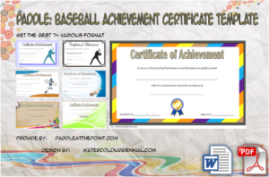 Baseball Achievement Certificates Free Download