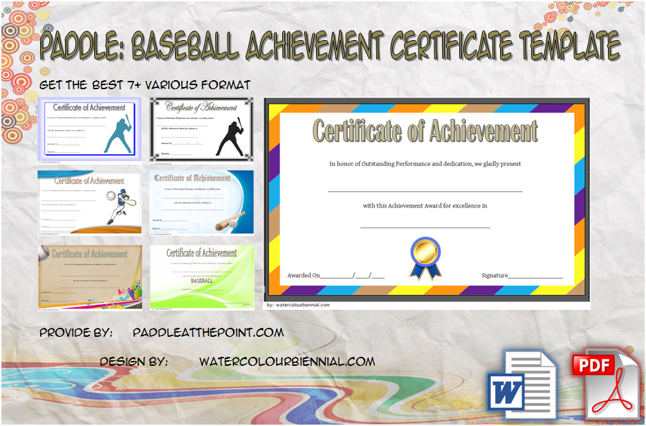 baseball achievement certificates, baseball league award certificate, baseball achievement award certificate, baseball team certificates, editable baseball achievement certificate, baseball certificate ideas, sportsmanship certificate templates