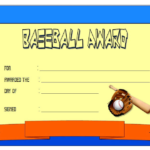 Baseball Award Certificate Template 3