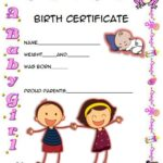 Cute Birth Certificate Template 1