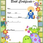 Cute Birth Certificate Template 2
