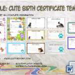 Cute Birth Certificate Template By Paddle