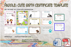 Cute Birth Certificate Template