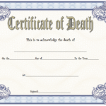 Death Certificate Template
