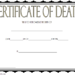 Death Certificate Template 2
