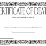 Death Certificate Template 3