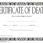 Death Certificate Template 3