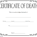Death Certificate Template 4