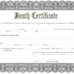 Death Certificate Template West Virginia 1