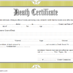 Death Certificate Template West Virginia 2