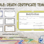 Death Certificate Template By Paddle