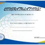 Outstanding Achievement Certificate Template 3