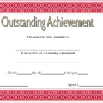Outstanding Achievement Certificate Template 4
