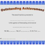 Outstanding Achievement Certificate Template 5