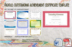 Outstanding Achievement Certificate