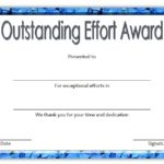 Outstanding Effort Certificate 5