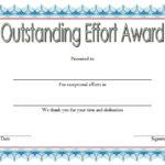 Outstanding Effort Certificate 6