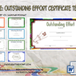 Outstanding Effort Certificate Template By Paddle