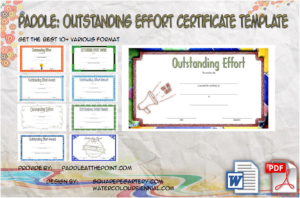 Outstanding Effort Certificate Template