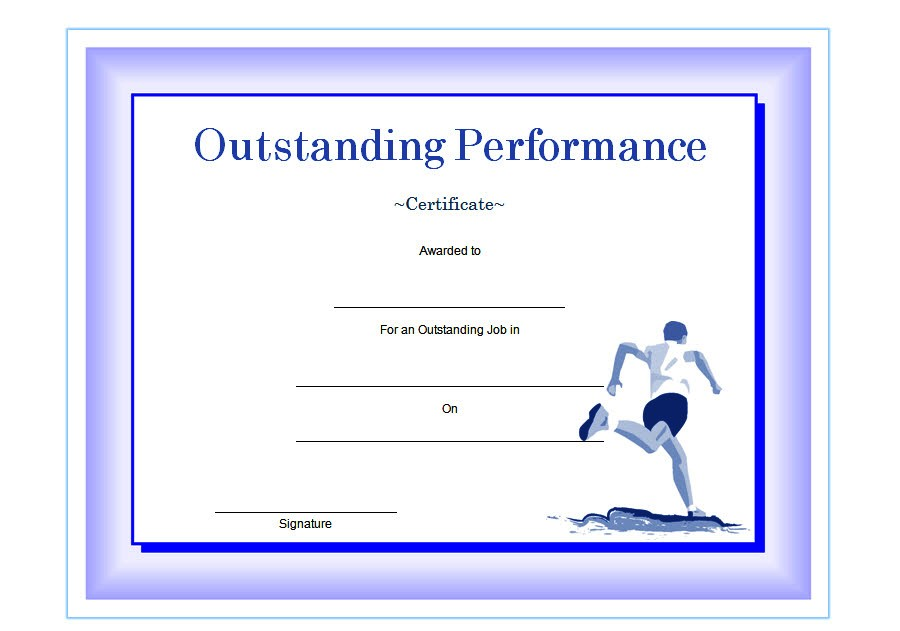 Outstanding Performance Template 2