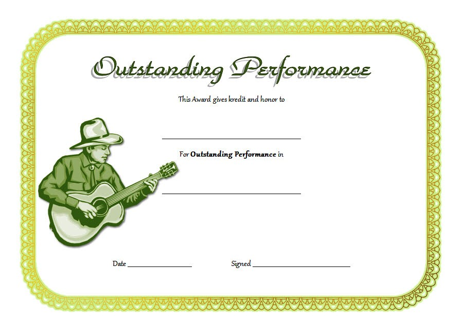 Outstanding Performance Template 5