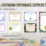 outstanding performance certificate template, outstanding performance award certificate template, excellent performance certificate template, music performance certificate template, performance award certificate template, the best performance of the year certificate template