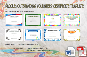 Outstanding Volunteer Certificate Template