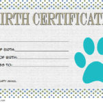 Stuffed Animal Birth Certificate Template 1