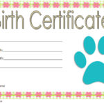 stuffed animal birth certificate template, printable stuffed animal birth certificate