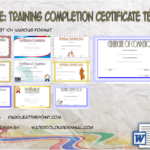 Training Completion Certificate Template By Paddle