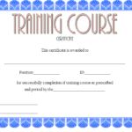 Training Course Certificate Template 1