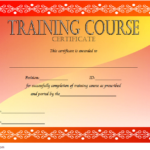 Training Course Certificate Template 2
