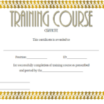 Training Course Certificate Template 3