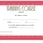 Training Course Certificate Template 4
