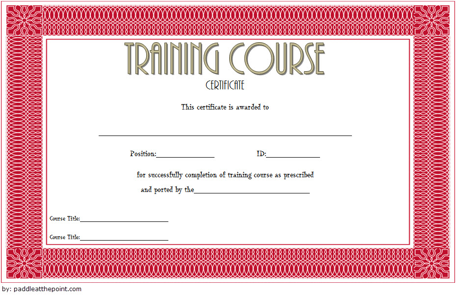 Training Course Certificate Templates 10 Free Download