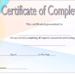 Training Course Certificate Template 6