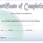 Training Course Certificate Template 7