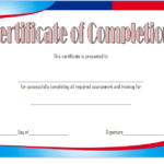 Training Course Completion Certificate Template 1
