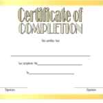 Training Completion Certificate Template Free Download