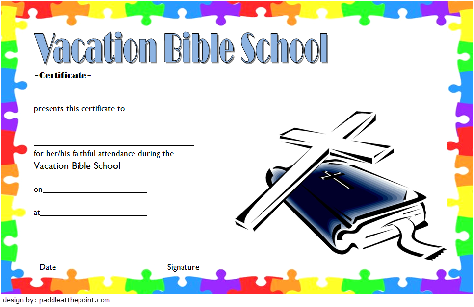 Vbs Certificate Template 8 Latest Designs Free Download