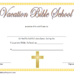 VBS Certificate Template Free Download
