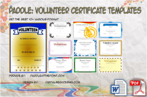 Volunteer Certificate Templates